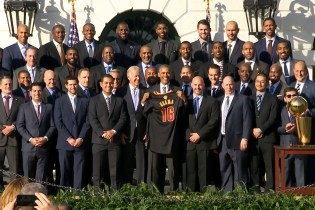 Watch the Cleveland Cavaliers Visit President Obama at the White House