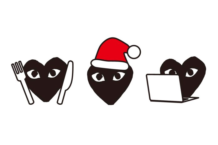 COMME des GARÇONS PLAY Launches an Emoji Pack for the 2016 Holidays
