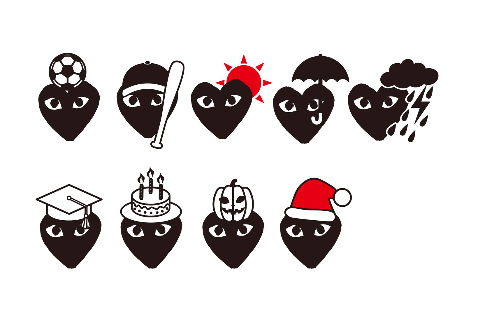 COMME des GARÇONS PLAY Emoji Pack 2016 Holidays | HYPEBEAST