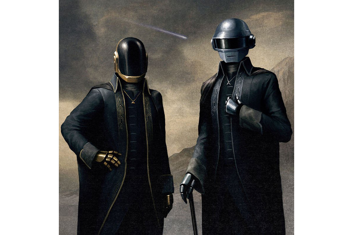 Purchase The Daft Punk Portrait Painting From The Weeknd's