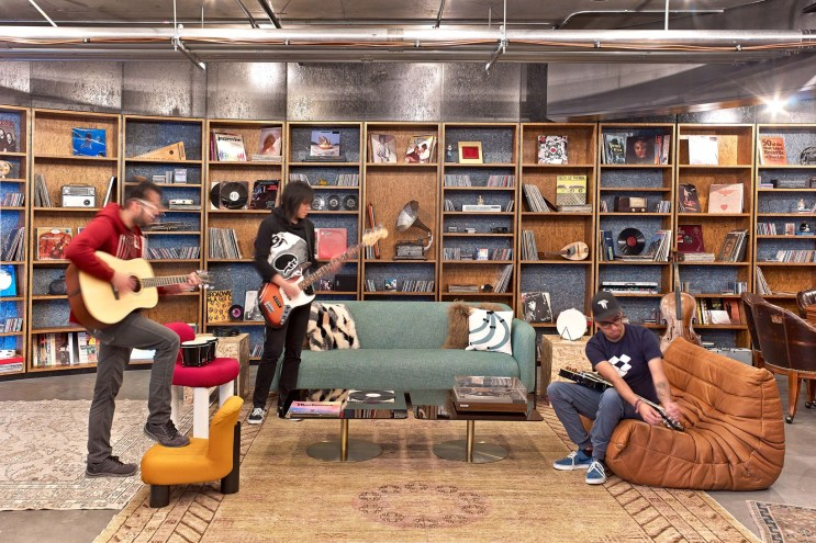"""Dropbox's Revamped San Francisco Headquarters Is Made up of Colorful """"Neighborhoods"""""""