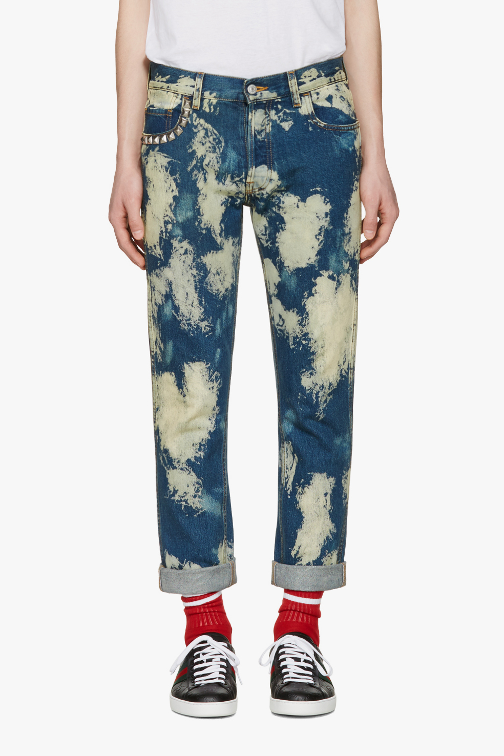 Gucci's Bleached Punk-Inspired Denim Jeans SSENSE - 1807620