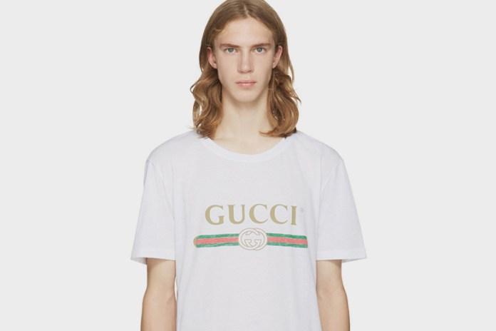 Gucci Drops Printed Tee Online at SSENSE
