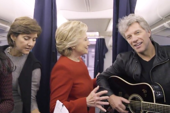 "Watch Hillary Clinton and Her Camp Nail the ""Mannequin Challenge"""