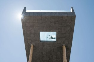 The Hotel Hubertus Features a 25-Meter-Tall Swimming Pool With a Glass Bottom