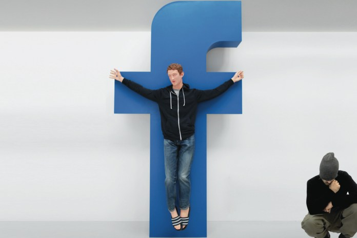 'Jesus Zuckerberg' Artist Wants $50M USD From Mark for His Sculpture or a Kiss From Kanye
