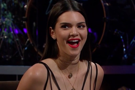 Watch Kendall Jenner Drink Bird Saliva and Clam Juice on 'The Late Late Show with James Corden'