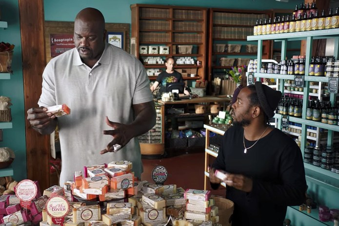 Watch Kendrick Lamar & Shaq Bond Over Artisanal Soap in American Express Commercial
