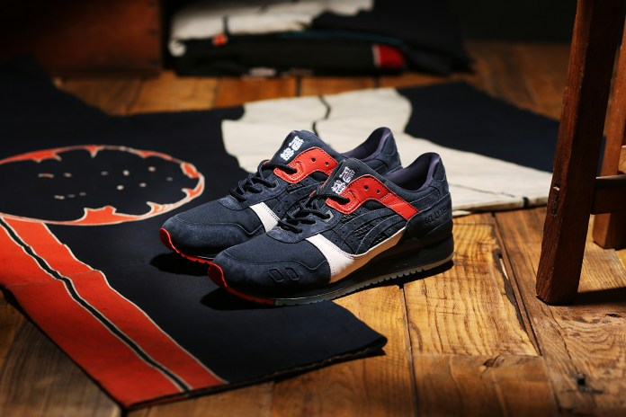 "KICKS LAB. Crafts a ""Hikeshi Hanten"" Rendition of the ASICS GEL-Lyte III"