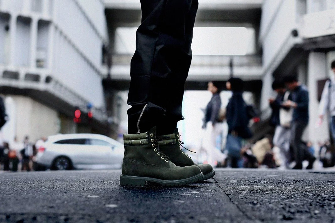 Kinetics x Timberland 6'' Boot forest green camo