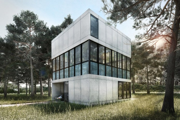 LAAV Architects' Villa Clessidra Concept Is Divided by a Swimming Pool