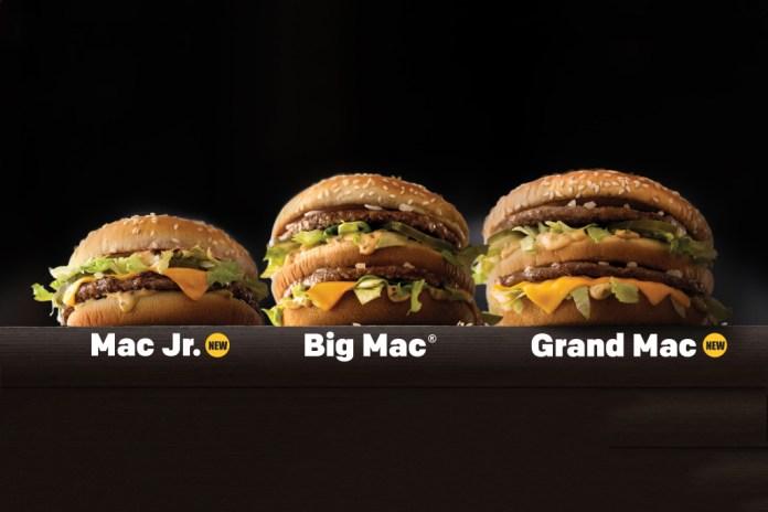 McDonald's Announces New Grand Mac and Mac Jr. Sizes for the Big Mac
