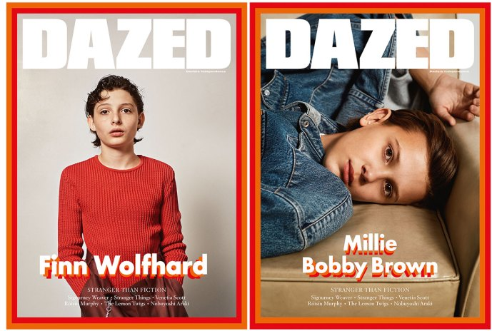 Millie Bobby Brown & Finn Wolfhard From 'Stranger Things' Cover the Winter Issue of 'DAZED'