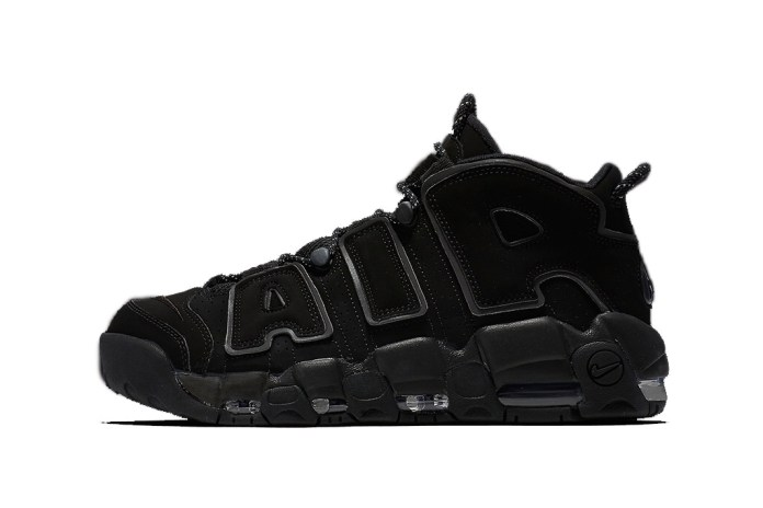 Nike's Air More Uptempo Adds a Reflective Touch to Its Notable Black Colorway