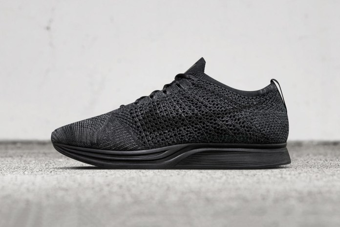 "Nike Officially Unveils Its ""Triple Black"" Flyknit Racer"