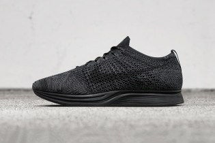 """Nike Officially Unveils Its """"Triple Black"""" Flyknit Racer"""