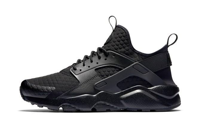 "Nike Huarache Ultra Premium SE Recieves a ""Triple Grey"" & ""Triple Black"" Makeover"