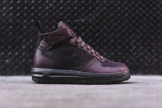 The Nike Lunar Force 1 Flyknit Workboot Goes Bold in Burgundy