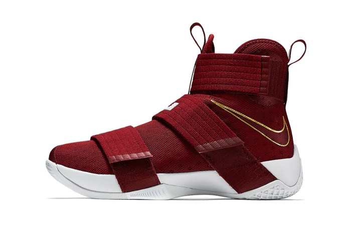 Nike's Zoom LeBron Soldier 10 Dons a Suitable Cleveland Cavaliers Colorway