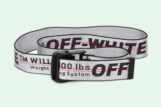 OFF-WHITE's Industrial Belt Is Now out in a New White Colorway