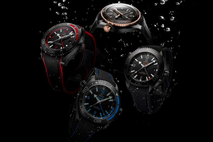 """OMEGA Unveils the Full Range of Seamaster Planet Ocean's """"Deep Black"""" Collection"""