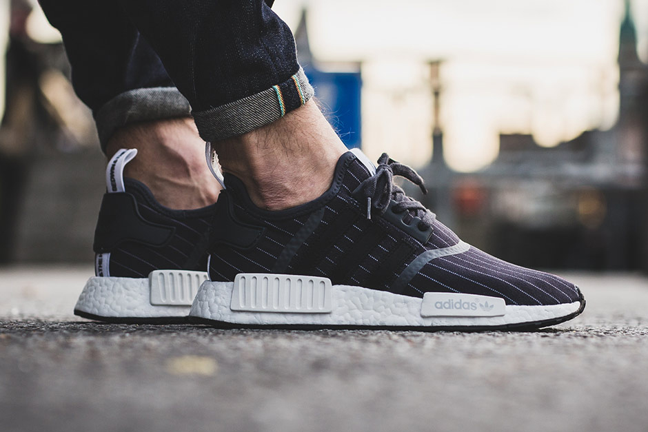 NEW Adidas Men's NMD_R1 BEDWIN SHOES BB3123 GREY NMD R1