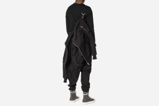 This Rick Owens DRKSHDW Padded Flight Jacket Offers a Unique Carrying Option