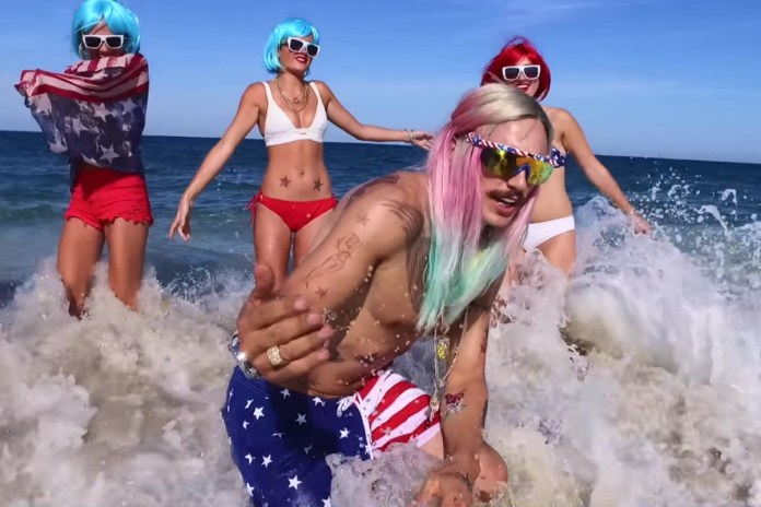 "James Franco Stars as RiFF RaFF in ""Only In America"" Music Video"