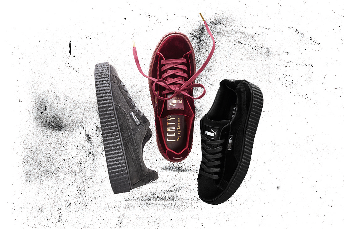 rihanna x puma velvet fenty creeper hypebeast. Black Bedroom Furniture Sets. Home Design Ideas