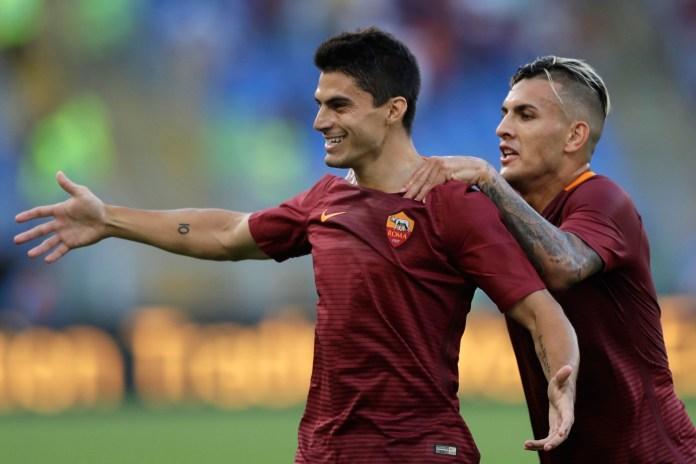 Roma's Diego Perotti Nets a Sweet Rabona Kick