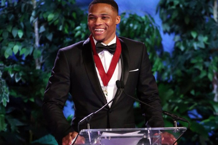 Michael Jordan Presents Russell Westbrook at Oklahoma Hall of Fame Induction