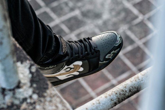 "HBX Is Raffling off ""Varsity Bones"" Air Jordan 1s Customized by SBTG"