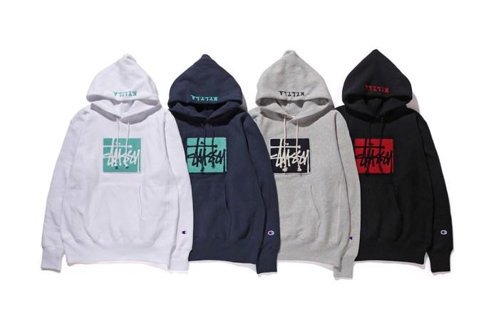 "Stüssy & Champion Introduce Their ""#2"" Reverse Weave Sweatshirts"