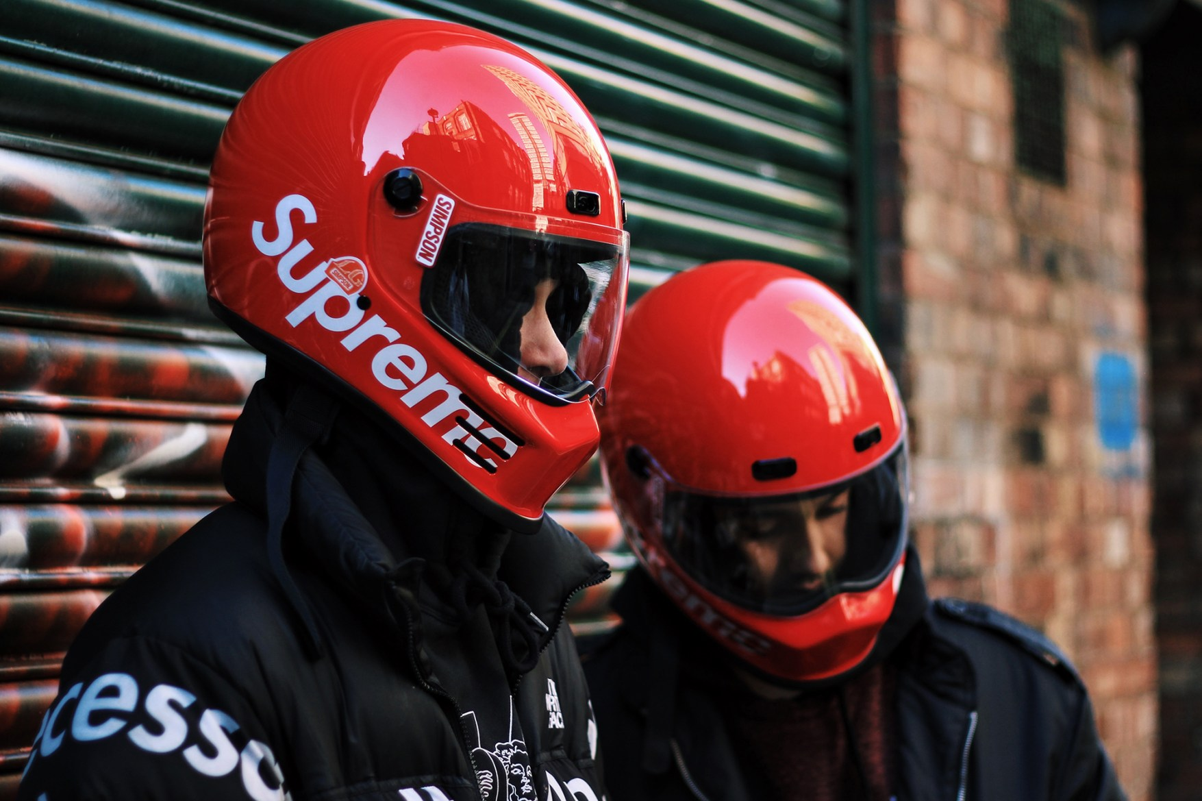 Supreme Motorcycle Helmet