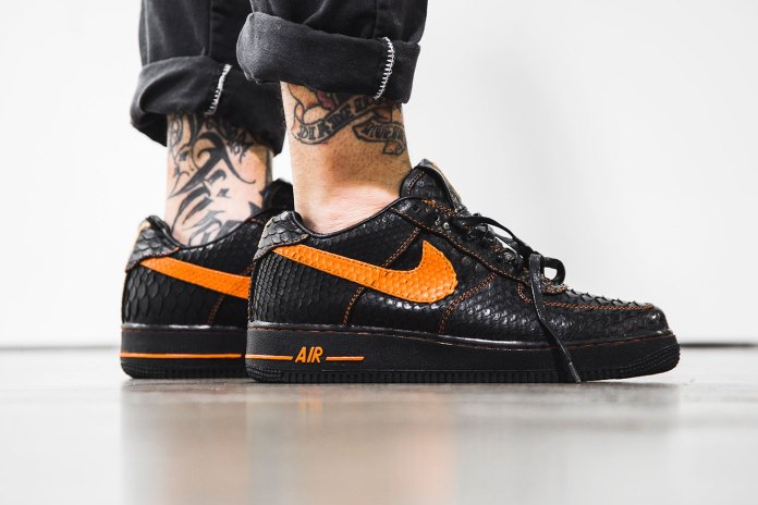The Shoe Surgeon Serves up a Python-Clad VLONE x Nike Air Force 1
