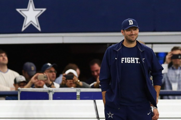 Tony Romo Returns to Practice, Sunday's Availability Changed to Coaches Decision