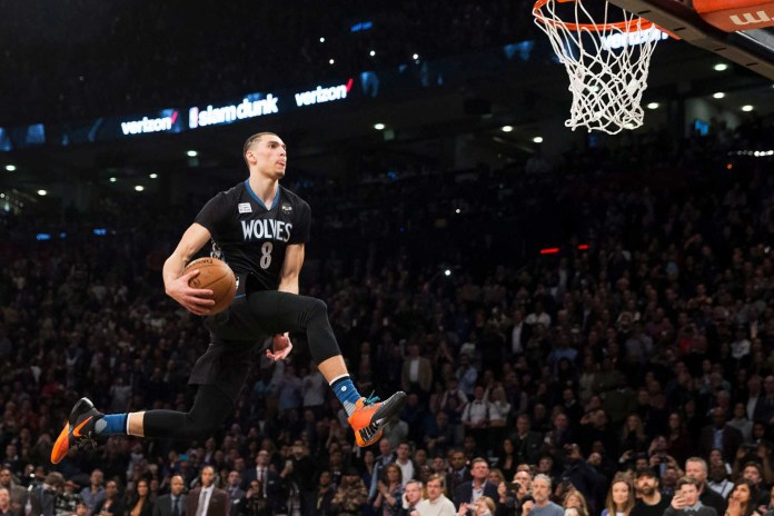 Slam Dunk Champ Zach LaVine Nailed a 360-Dunk From the Foul Line
