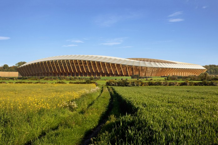 Zaha Hadid Architects Will Construct a Soccer Stadium Made Entirely out of Wood