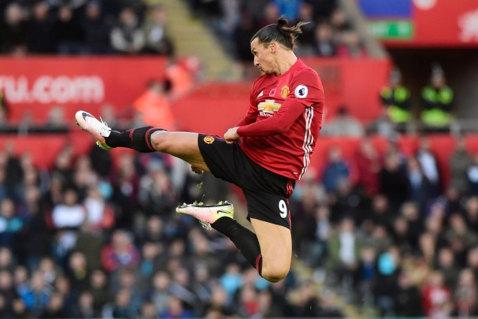 Manchester United's Zlatan Ibrahimovic Nets Premier League's 25,000th Goal