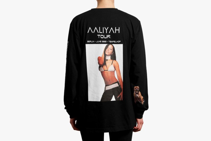 '032c' Drops a Special Tribute T-Shirt for the Princess of R&B, Aaliyah
