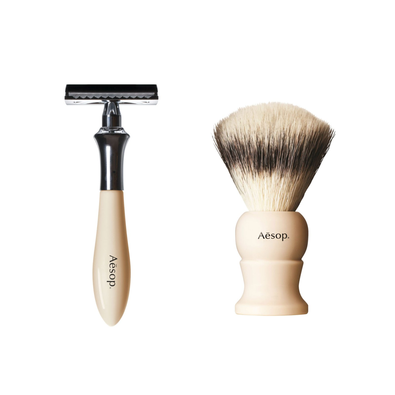 Aesop Shaving Brush and Razor