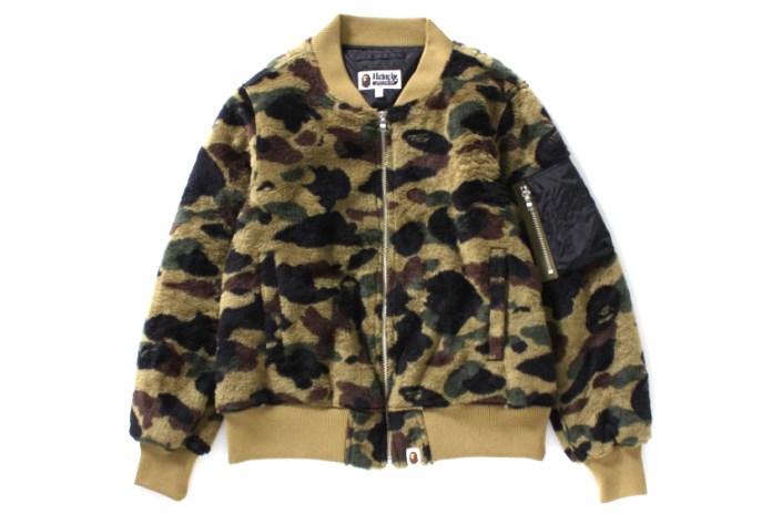 BAPE Teases a Camouflage Fleece Bomber Jacket