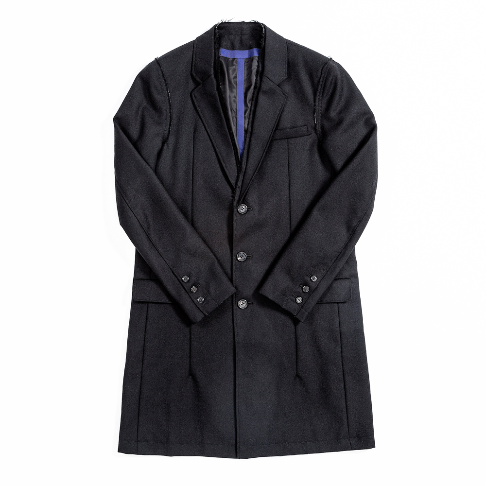 JohnUNDERCOVER Raw Edge Wool Coat