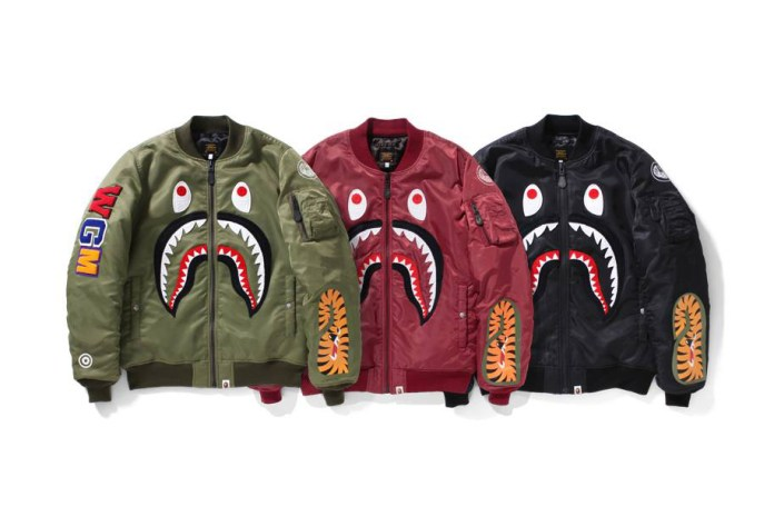 BAPE Brings Its Shark Motif to the MA-1