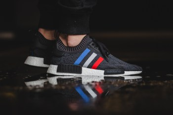 "Here's an #OnFeet Look at the adidas Originals NMD_R1 ""Tri-Color"" Pack"