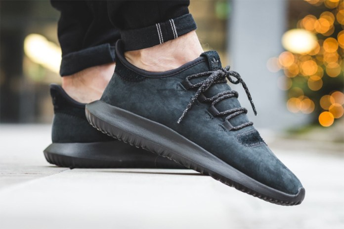 adidas Originals Tubular Shadow Now Available in All-Black Suede