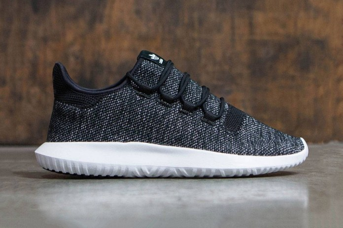 adidas Tubular Shadow Knit Drops in Black