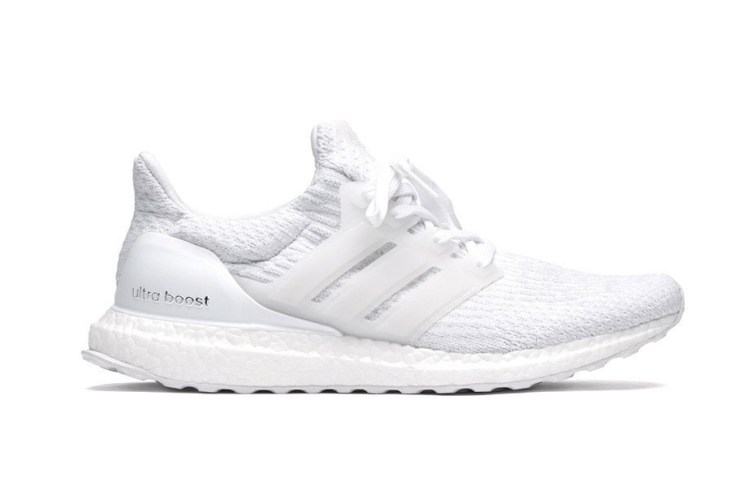 """The adidas UltraBOOST 3.0 """"Triple White"""" Gets Restocked"""