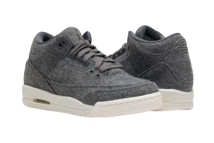The Air Jordan 3 Gets a Wool Makeover
