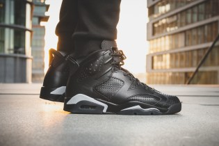 "Here's an #OnFeet Look at the Upcoming Air Jordan 6 ""Black Cat"""